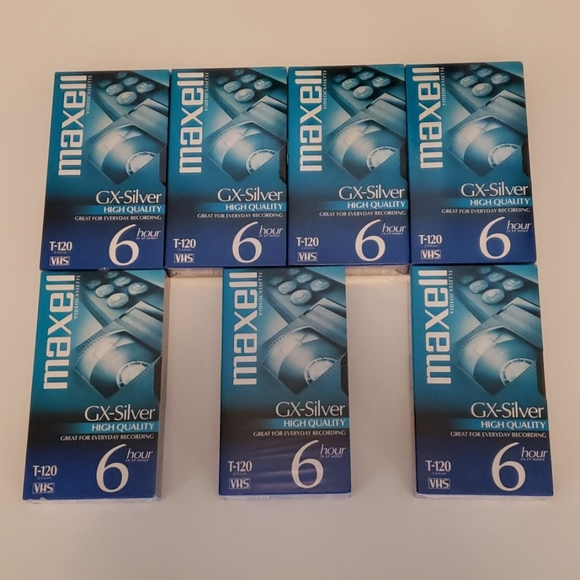 Maxell Other - 7 Maxell GX-Siver T-120 Blank Vhs Tapes New